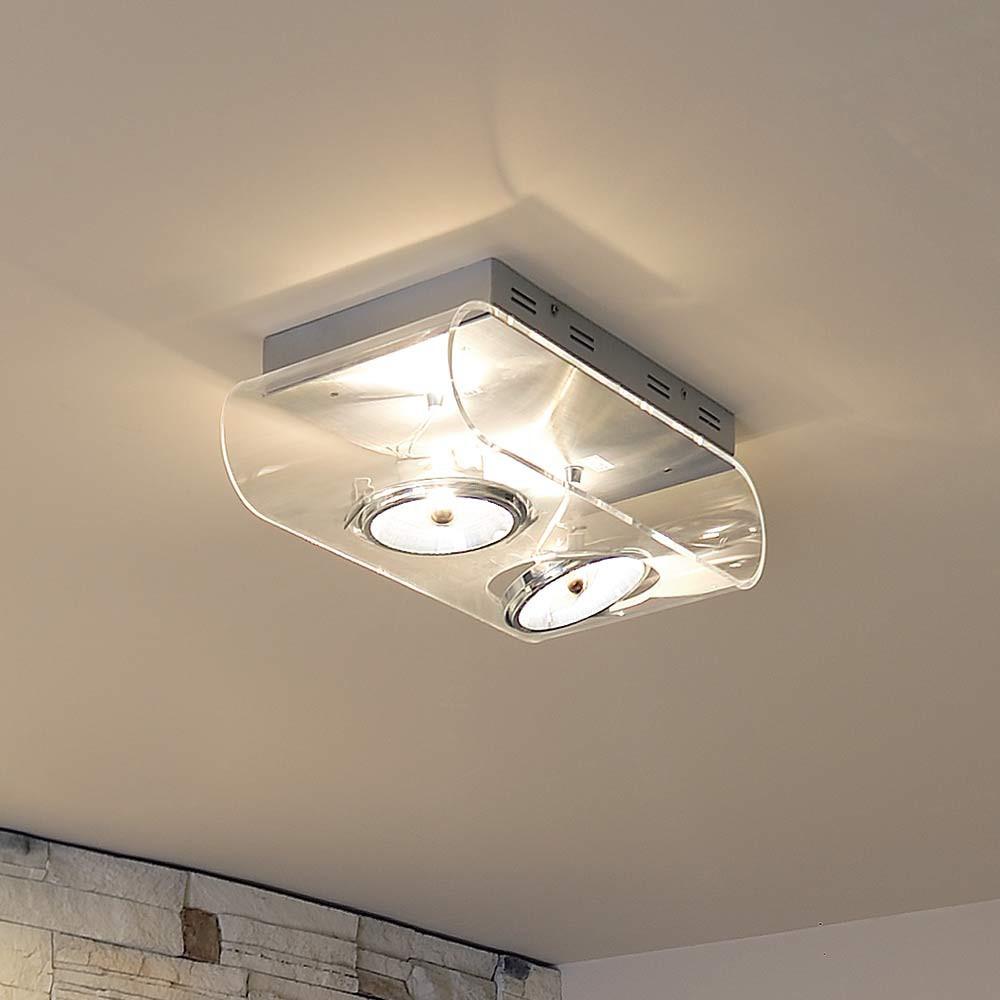 plafonnier transparent 2 spots lampe avenue. Black Bedroom Furniture Sets. Home Design Ideas
