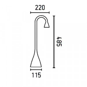 Liseuse LED dimensions