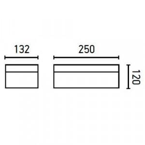 Applique LED extérieur dimensions