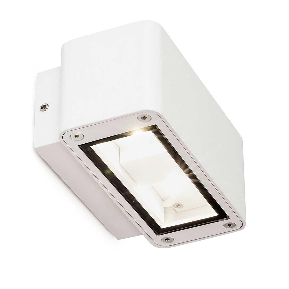 applique ext rieure blanche led en alu ip54 lampe avenue. Black Bedroom Furniture Sets. Home Design Ideas