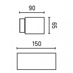 dimensions applique exterieure design