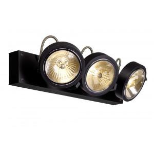 Plafonnier design noir 3 spots