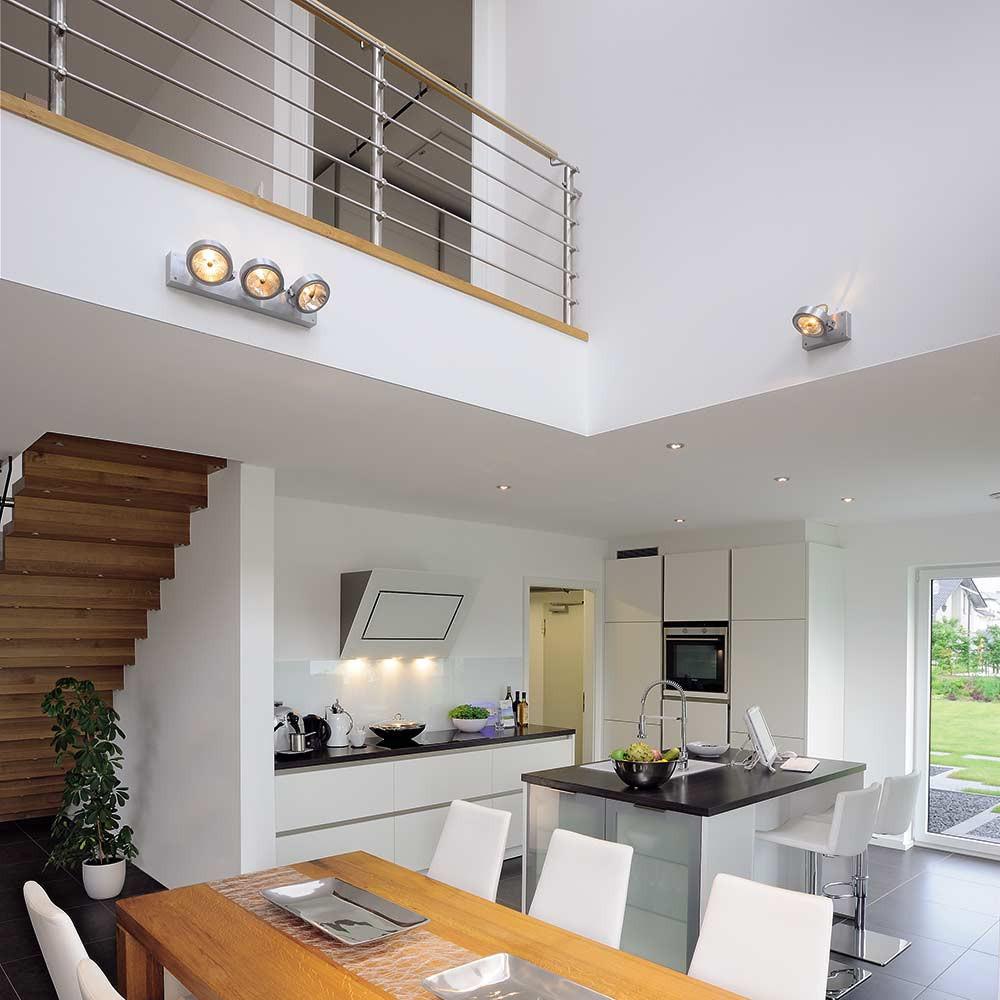 plafonnier alu bross 3 spots lampe avenue. Black Bedroom Furniture Sets. Home Design Ideas