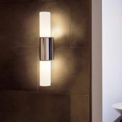 Applique salle de bain chromée et verre