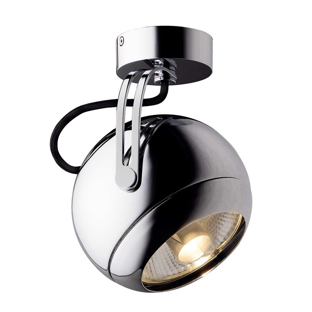 Spot boule chrom e orientable lampe avenue for Spot applique exterieur