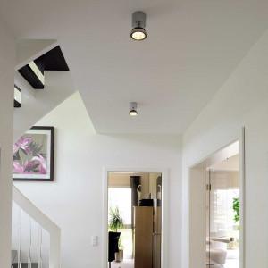 Spot LED design gris argent