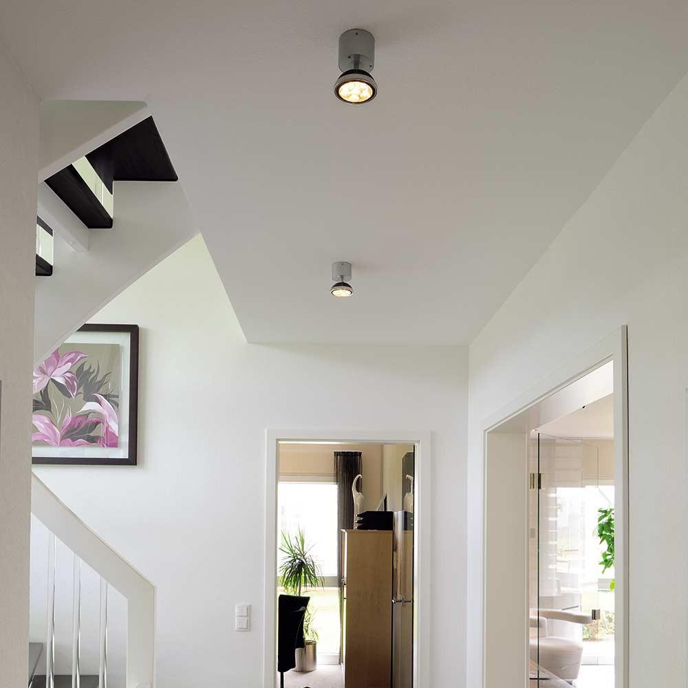 Spot led design gris argent lampe avenue for Spot design exterieur