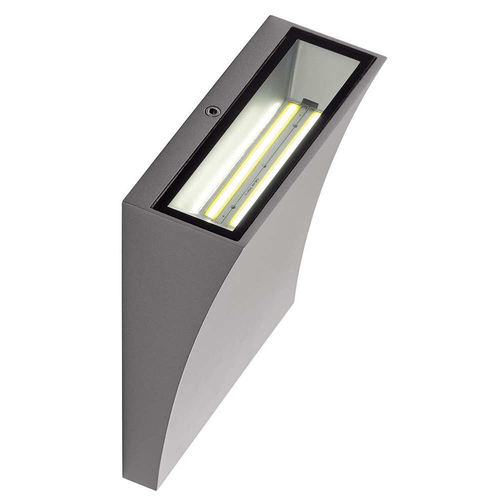 applique led design gris argent ip44 sur lampe avenue. Black Bedroom Furniture Sets. Home Design Ideas
