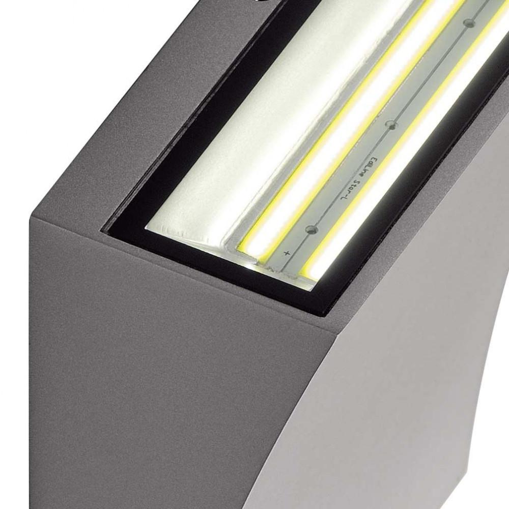 Applique led design gris argent ip44 sur lampe avenue for Applique exterieur led design