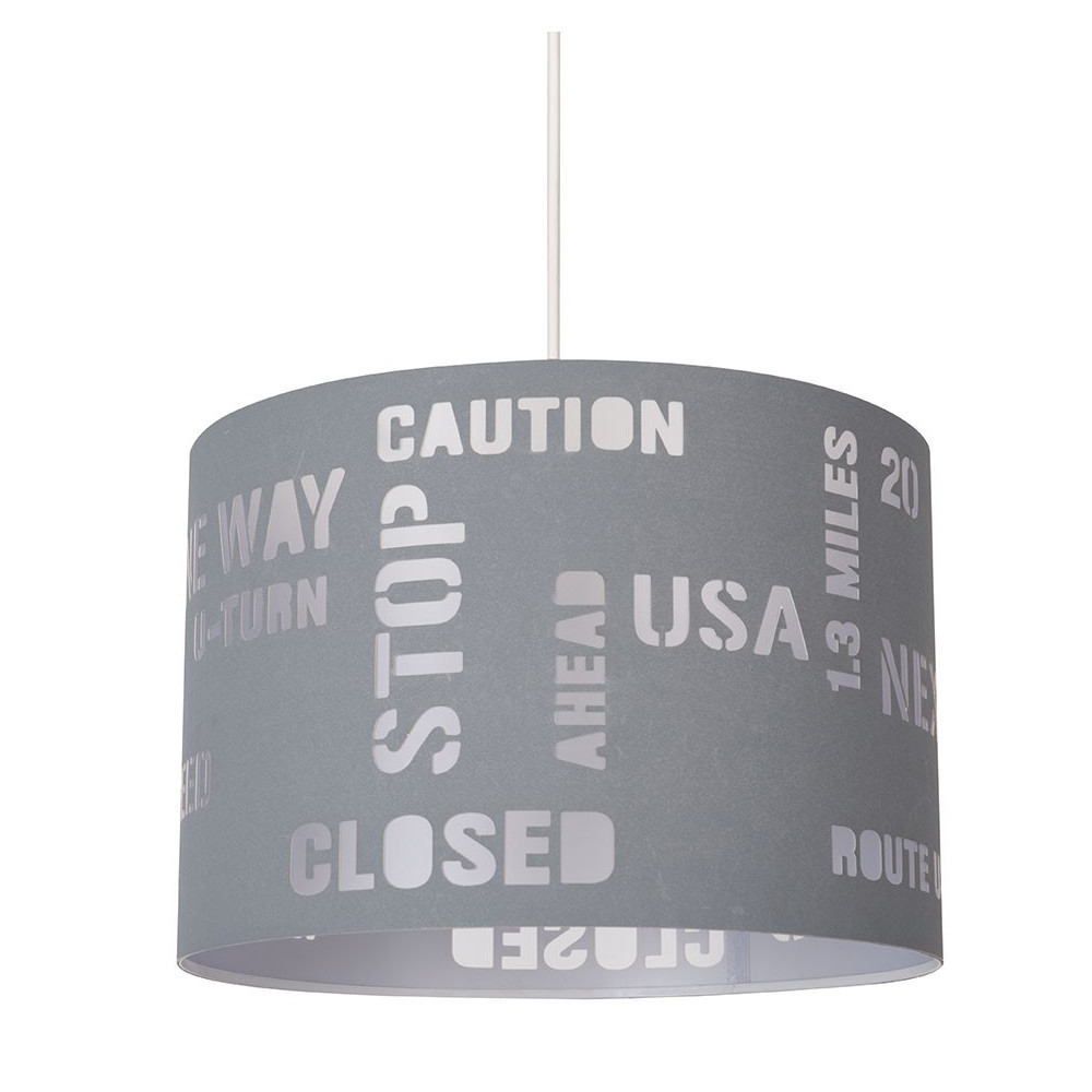 Suspension grise pour ado luminaire d co usa en vente sur lampe avenue for Lampe suspension chambre ado