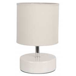 Lampe chevet blanche céramique