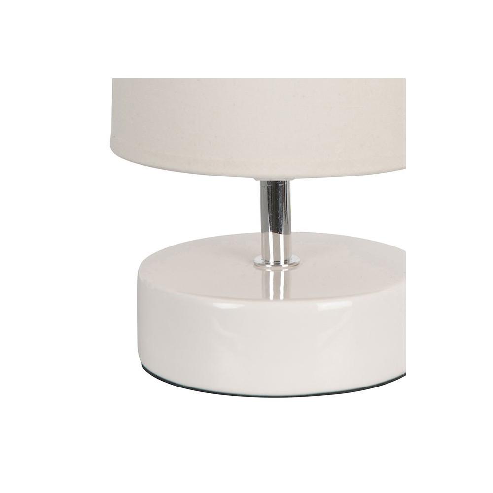 Lampe chevet blanche c ramique avec abat jour vente sur for Lampe exterieur blanche