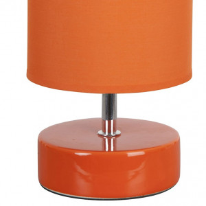 Lampe céramique orange