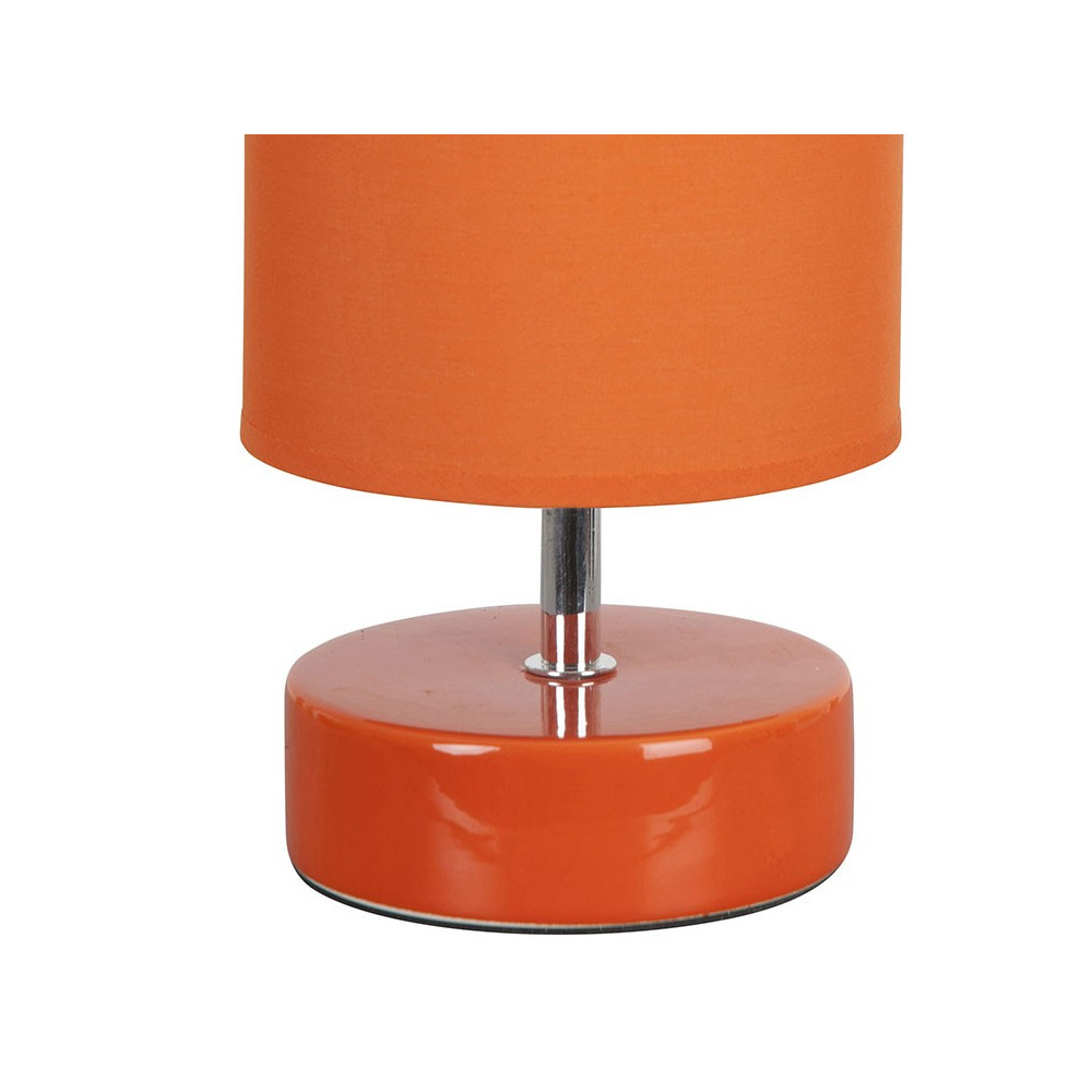 lampe chevet orange c ramique et abat jour vente sur lampe. Black Bedroom Furniture Sets. Home Design Ideas