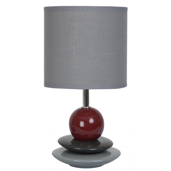 Lampe grise galets