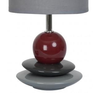 Lampe céramique gris