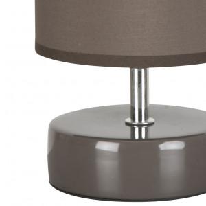 Lampe céramique grise