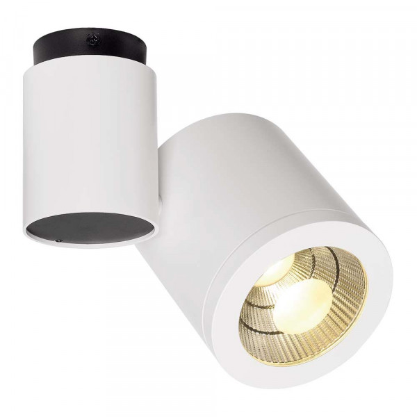 Plafonnier blanc led design moderne lampe avenue for Plafonnier exterieur led