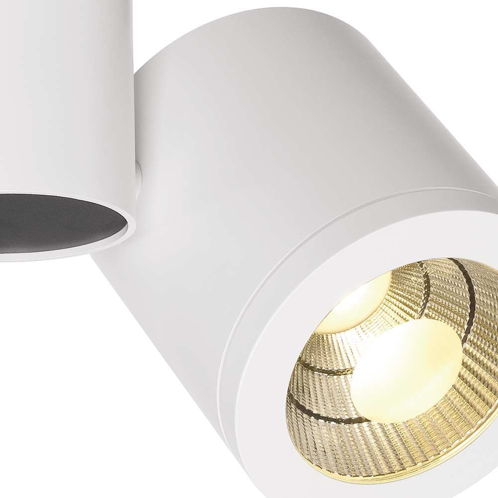 plafonnier blanc led design moderne lampe avenue. Black Bedroom Furniture Sets. Home Design Ideas