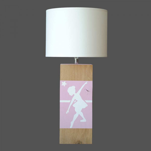 Lampe rose danseuse L34