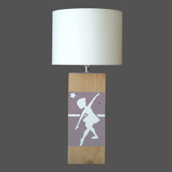 Lampe gris taupe danseuse