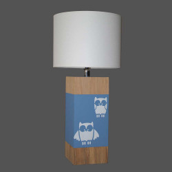 Lampe enfant bleu gris hibou