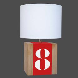 Lampe rouge chevet