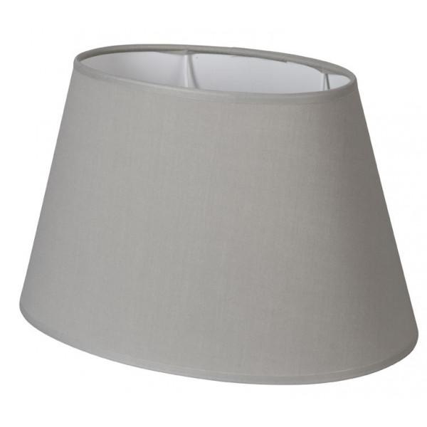 Abat-jour ovale gris