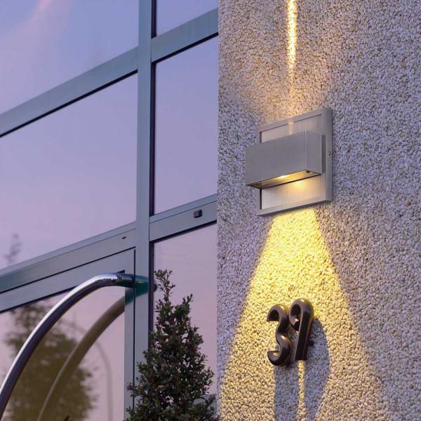Applique LED extérieur ou intérieur gris argent