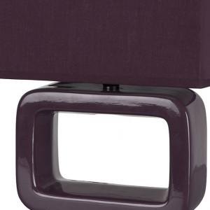 Lampe violette céramique
