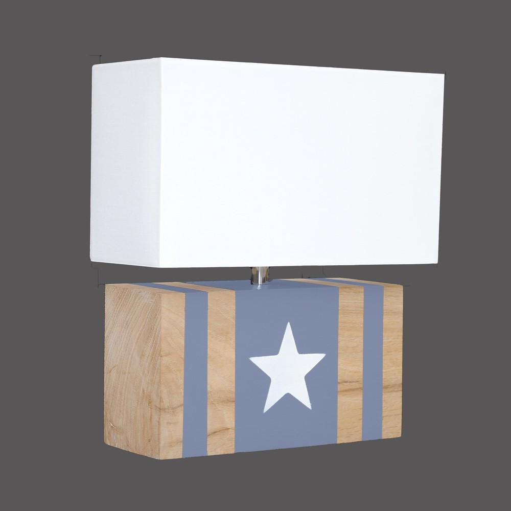 applique d co bleue avec toile blanche achat sur lampe avenue. Black Bedroom Furniture Sets. Home Design Ideas