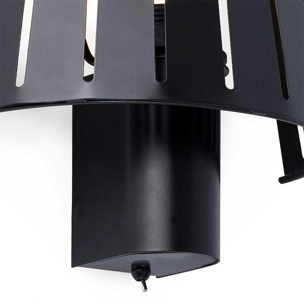 applique m tal noir avec interrupteur en vente sur lampe. Black Bedroom Furniture Sets. Home Design Ideas