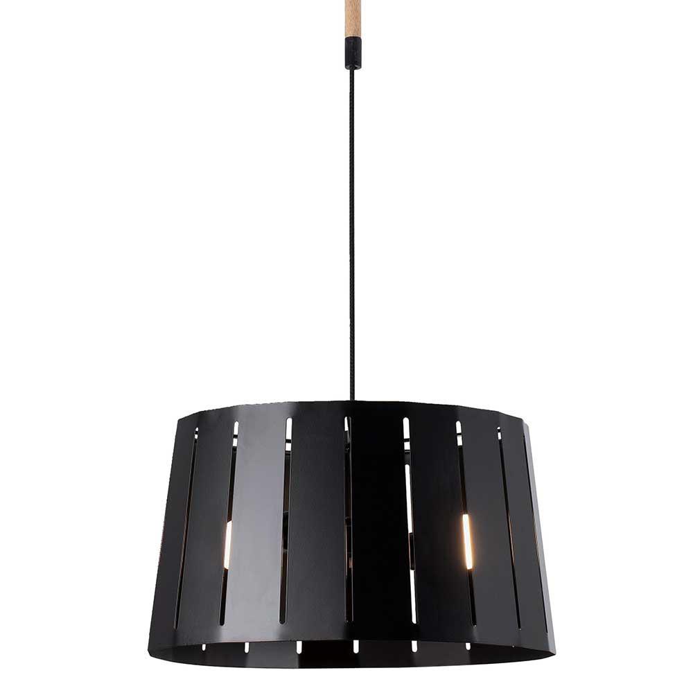 suspension m tal noir et bois lampe avenue. Black Bedroom Furniture Sets. Home Design Ideas