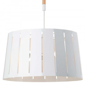 Suspension blanche metal