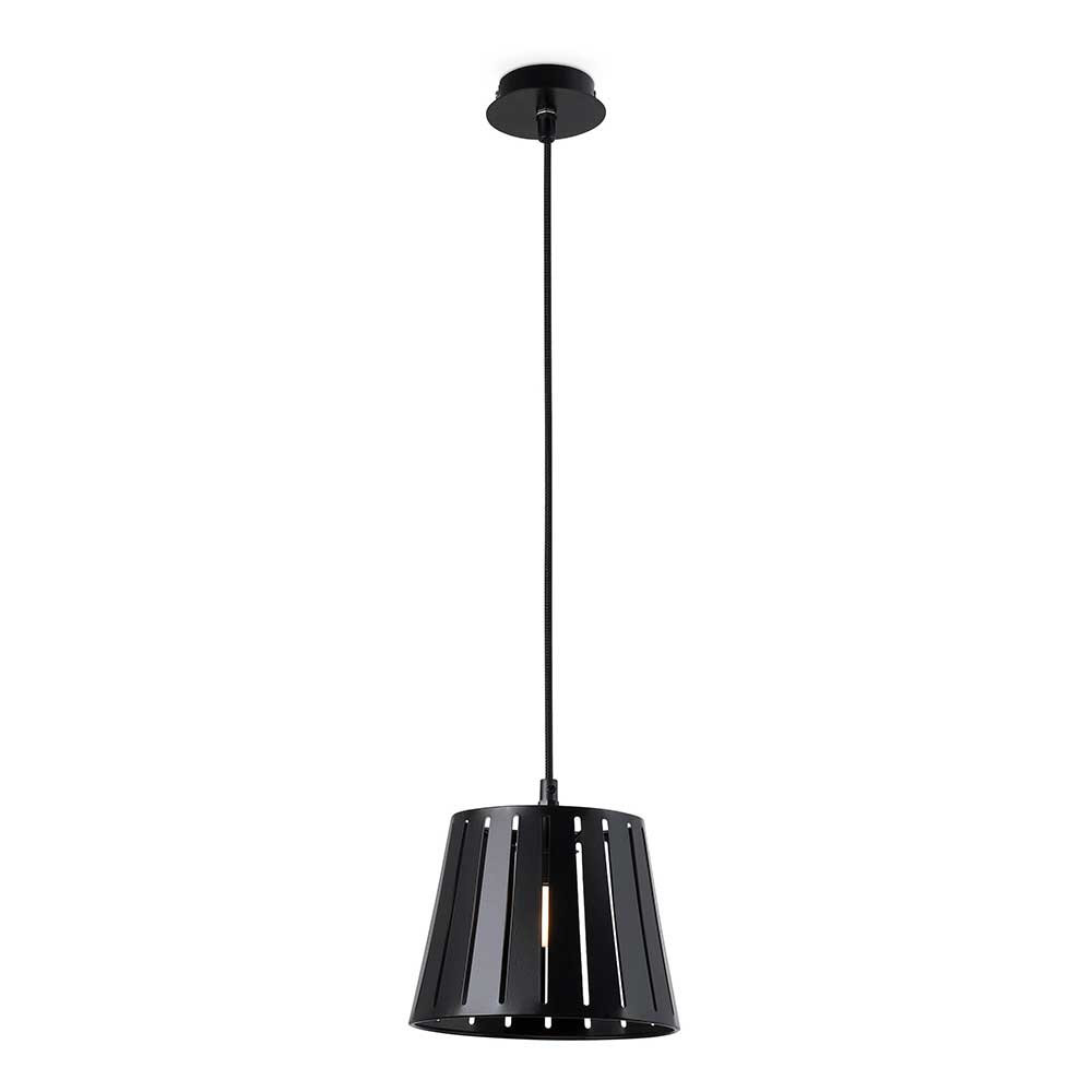 Suspension m tal noir pour cuisine ou bar for Suspension metal noir