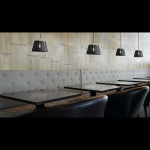 Suspension noire restaurant