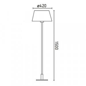 dimensions lampadaire mitic faro