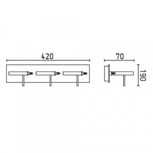 Applique LED Faro Boreal 3