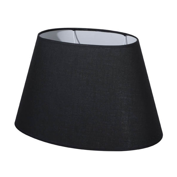 Abat-jour ovale noir