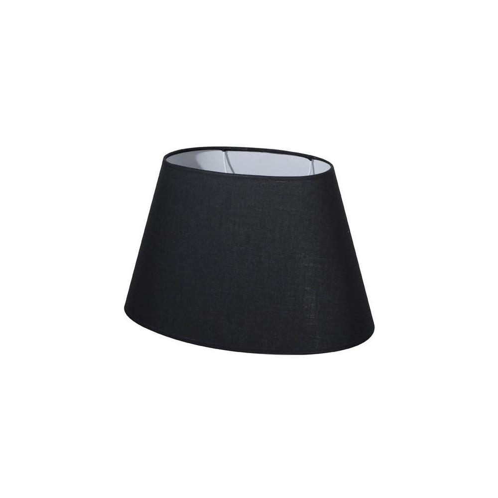 abat jour ovale noir abat jour coton. Black Bedroom Furniture Sets. Home Design Ideas