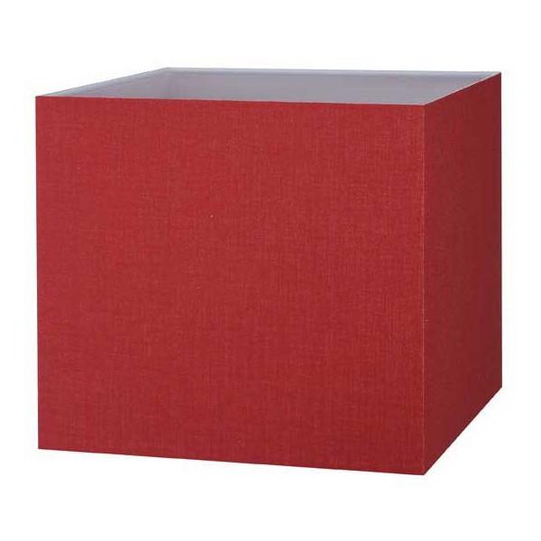 abat jour carr rouge cerise pas cher en vente sur lampe. Black Bedroom Furniture Sets. Home Design Ideas