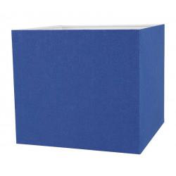 Abat-jour carré bleu