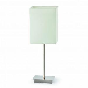 Lampe chromée abat jour blanc Faro
