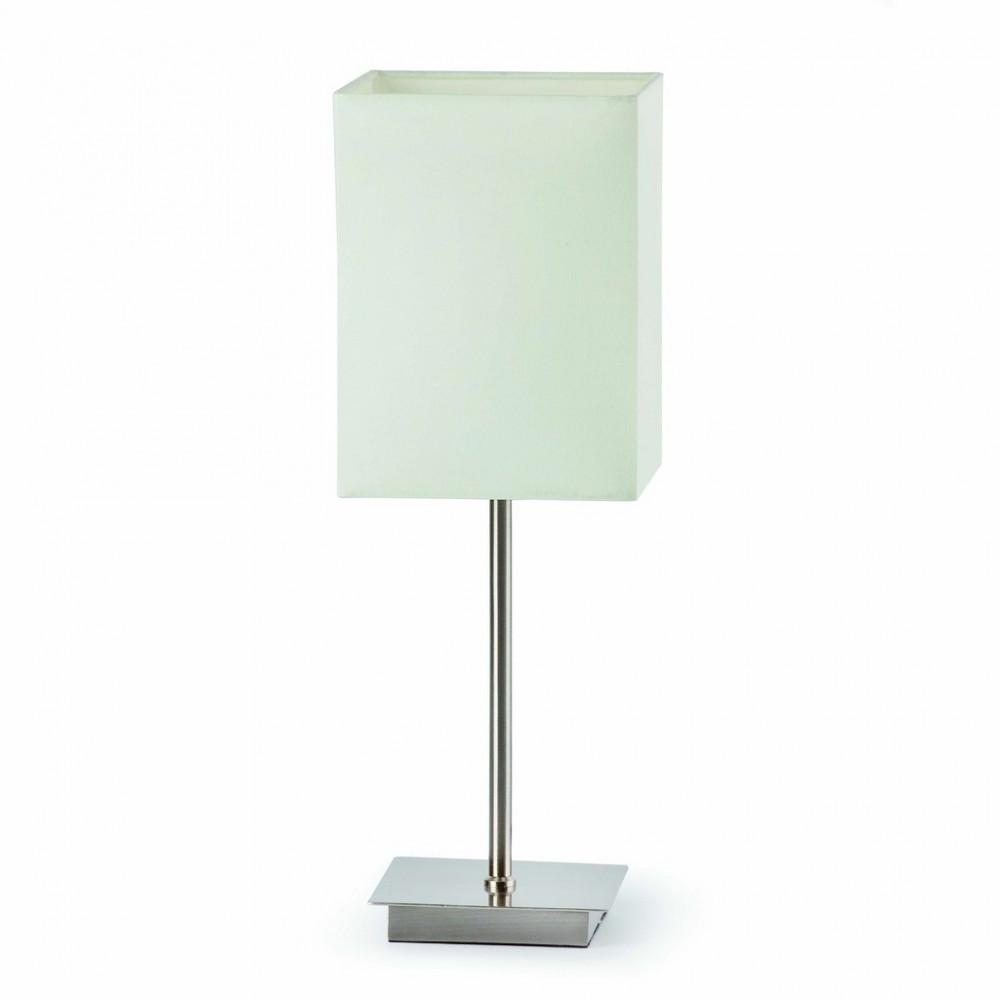 petite lampe chrom e abat jour blanc luminaire faro. Black Bedroom Furniture Sets. Home Design Ideas