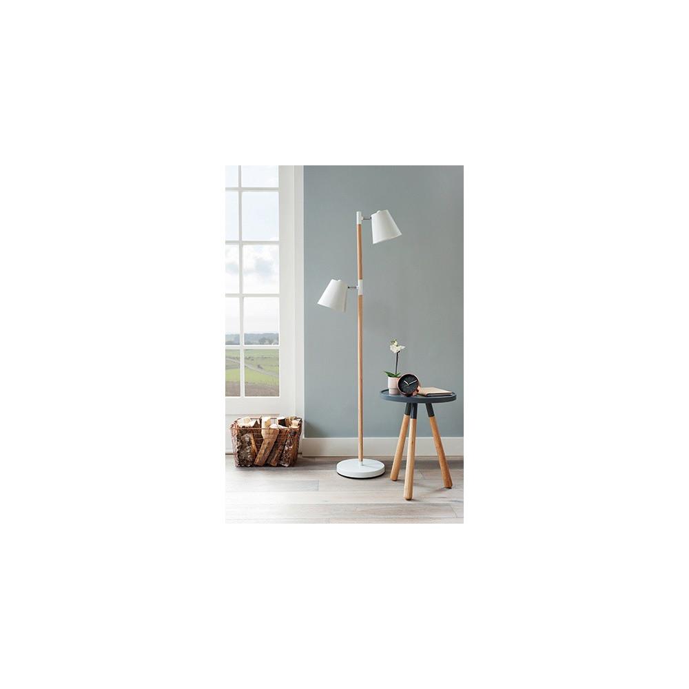 Lampadaire blanc box32 design lampe avenue for Lampadaire exterieur bois