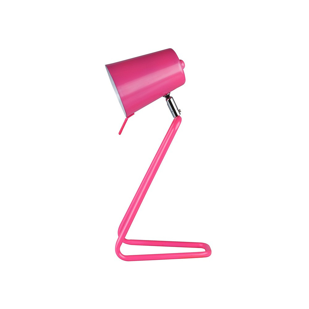Lampe de table z rose lampe avenue for Lampe de bureau rose