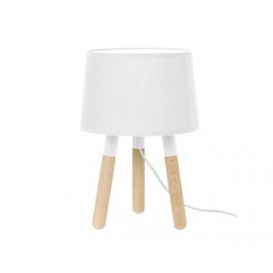 Lampe de table bois blanche