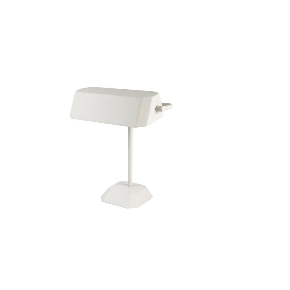 Lampe de bureau notaire blanche lampe avenue for Lampe exterieur blanche