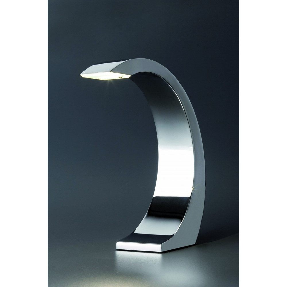 Lampe chrom e tactile led design for Lampe exterieur led design
