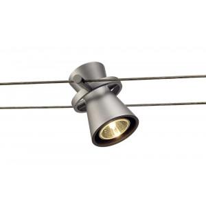 Spot gris argent pour câble tendu